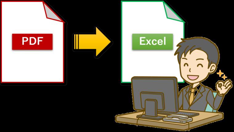 フリーソフトを使わず pdf内にある表をexcelに変換する方法
