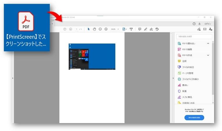 スクリーンショット PDF化
