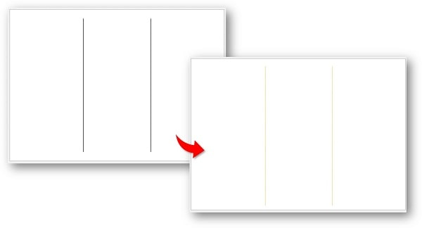 境界線の色の変更例