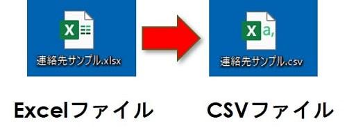 ExcelからCSV
