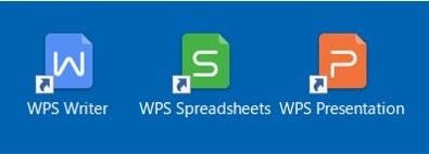 デスクトップ画面に「WPS Office」のアイコンが表示されます。